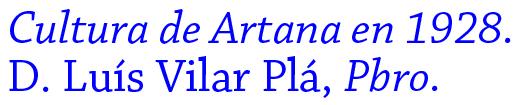 cultura de Artana