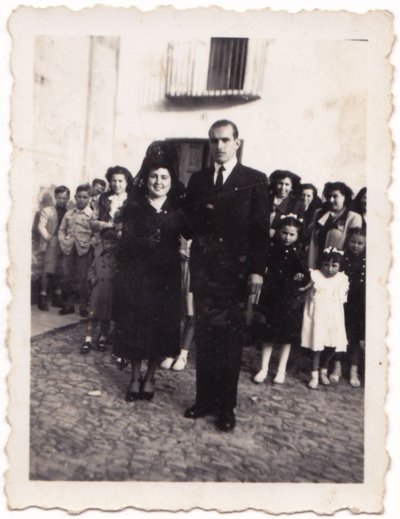 La contrapart. La boda es va celebrar el dimarts 26 de febrer de 1952.