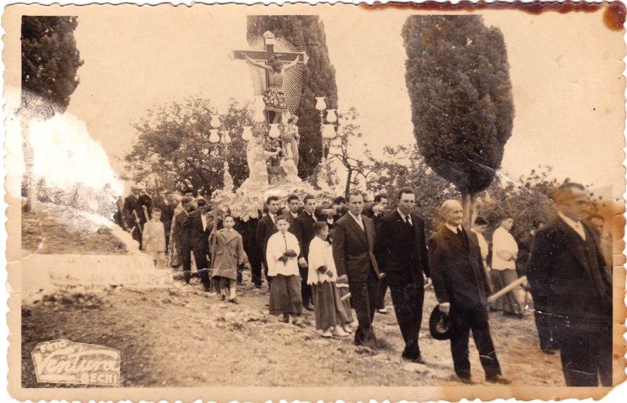 Baixada del Cristo. 13 d'abril de 1958. Foto Ventura