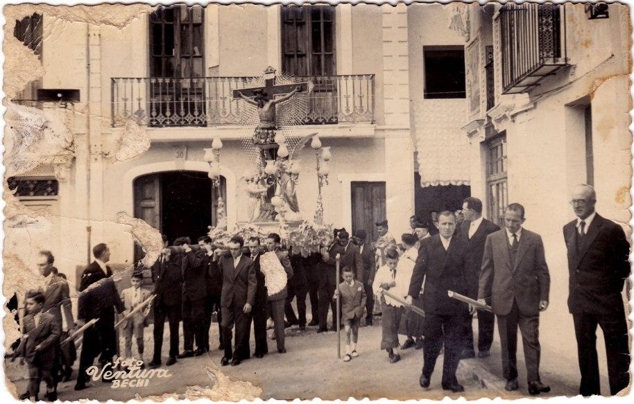 Baixada del Cristo. 5 d'abril de 1959. Foto Ventura