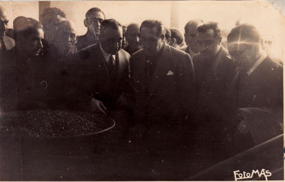 Òbviament la inauguració es va fer els mesos de collita d'olives.