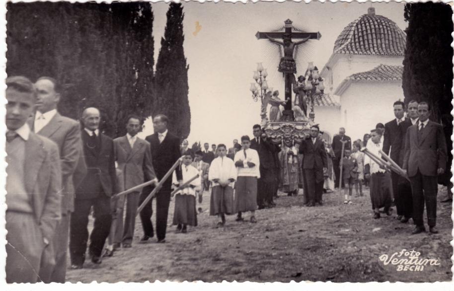 Baixada del Cristo. Foto Ventura, 5 d'abril de 1959.