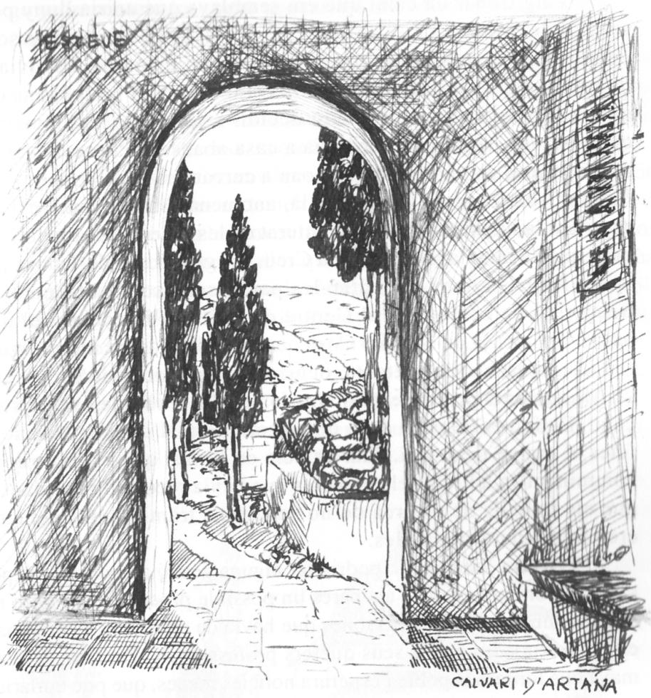 Calvari d'Artana. Dibuix de l'autor.