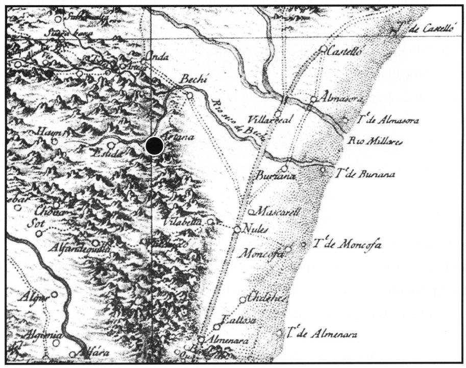 Fig. 3. Situació geogràfica d'Artana