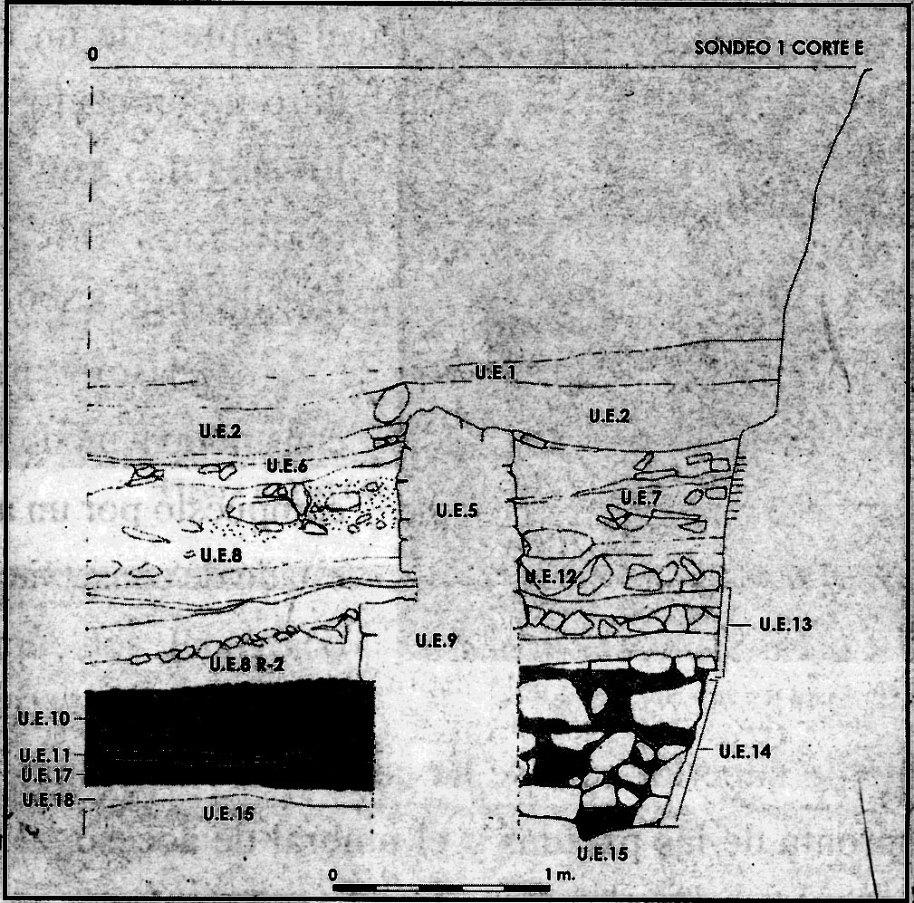 Fig. 11. Sondeo 1, corte E