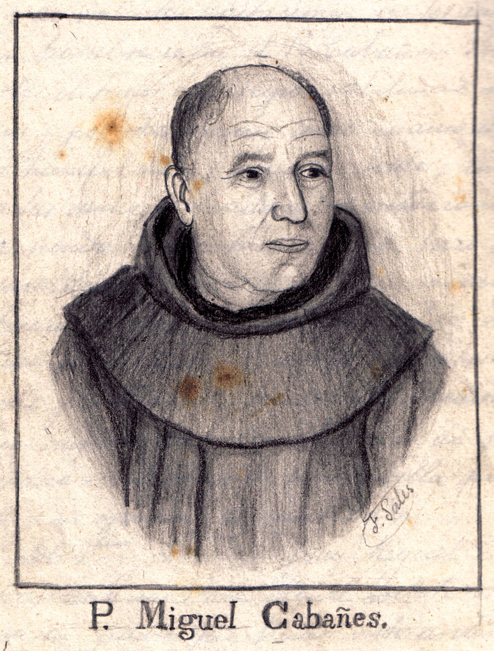 El Pare Miquel Cabanyes retratat per Felipe Sales per a la Història d'Artana de Mn. Lluís Vilar.