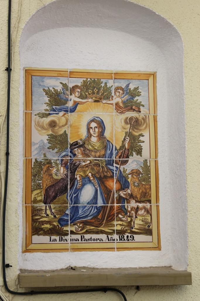 La Divina Pastora de las Almas. Panel cerámico de 1849