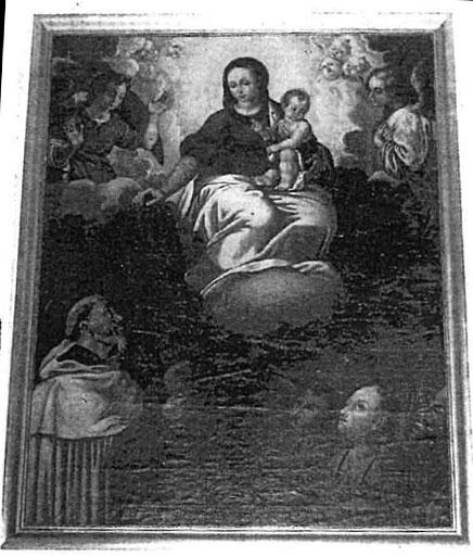 La Virgen entregando el escapulario a San Simón Stock. Vila-real, Arciprestal de San Jaime