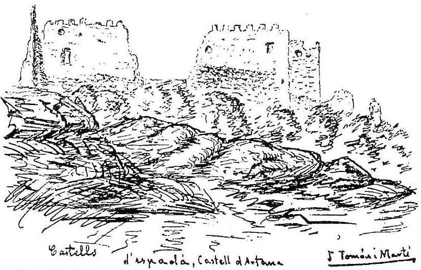 Castells d'Espadà. -Castell d'Artana, per J. Tomàs i Martí