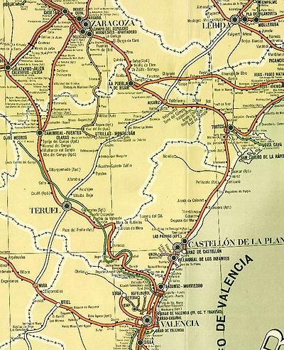 Ferrocarril de Ojos Negros a Sagunt, en verd