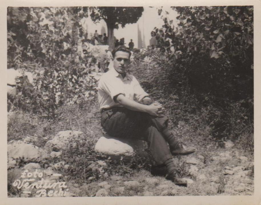 Luís Ortigosa Ortigosa, foto feta en l'Ermita de Santa Cristina el dia de la festa, diumenge 24 de juliol de 1960