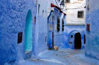 Una vista e Xauen, al Riff marroquí