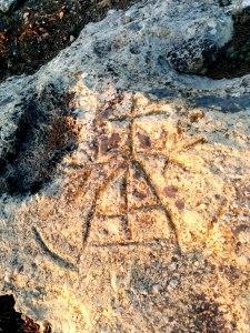 La marca de Federo sobre roca en la muntanya de la mina de la Font del Ferro, possiblement la versió de més qualitat