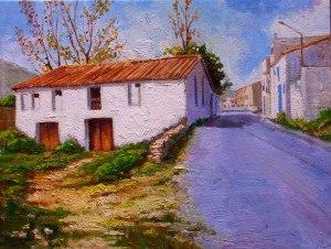 Artana. Antiga entrada al poble. Oli sobre llenç. 35x27 cm