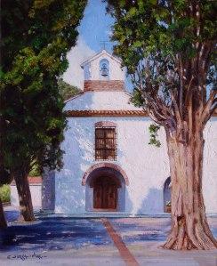 Artana. Capella de l'Ermita Sta. Cristina. Oli sobre llenç. 46x38 cm
