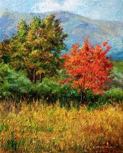 Artana. Colors de Tardor. Oli sobre llenç. 41x33 cm