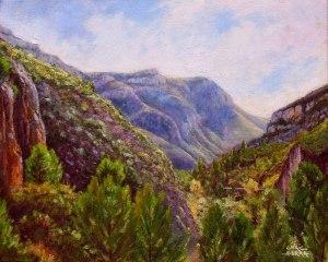 Muntanyes camí de Puertomingalvo. Oli sobre llenç. 41x33 cm