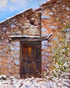 Neu a la Porta. Oli sobre llenç. 41x33 cm