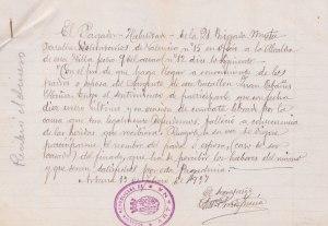 Comunicació de la defunció de Joan Cabañes