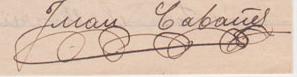 Dos mostres de la signatura de Joan Cabañes