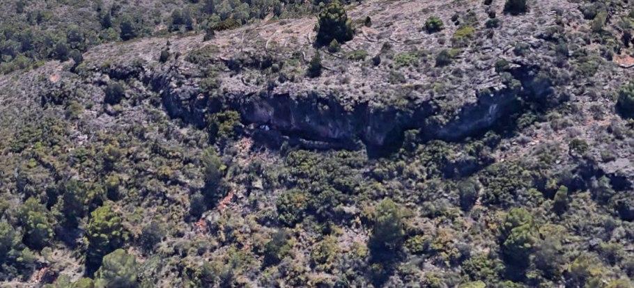 Vista aèria de la cova de Margalida.
